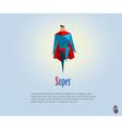 super hero origami style icon vector image