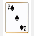 three spades vector image vector image