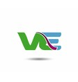 VE logo vector image vector image
