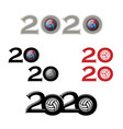 volleyball symbol new 2020 year vector image vector image