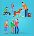 Volunteers design concept vector image vector image