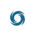 vortex icon logo vector image vector image