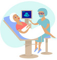 woman getting ultrasound scan vector image