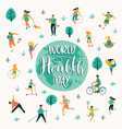 world health day people vector image