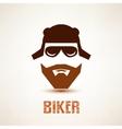 biker or rocker symbol stylized icon vector image