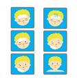 Child Fever icon set vector image