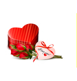 Holiday Valentines day background Red roses with vector image