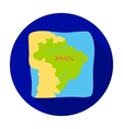 Territory of Brazil icon in flat style isolated on vector image
