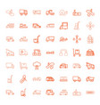 49 moving icons vector image vector image
