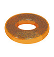 Appetizing glazed ring-shaped roll bun covered vector image