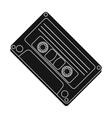 Audio cassette icon in black style isolated on vector image vector image