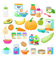 baby food child healthy nutrition milk vector image