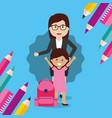 back to school people vector image vector image