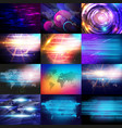 background with milky way eps 10 vector image vector image