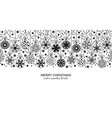 black seamless snow flake border white background vector image vector image