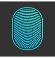 blue isolated fingerprint vector image vector image