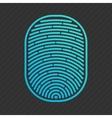 blue isolated fingerprint vector image