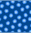 blue morning glory flower on indigo blue vector image vector image