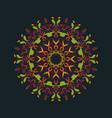 boho round ornaments flower mandala eps vector image