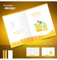 booklet catalog brochure folder honey mead bee vector image vector image