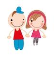 boy and girl couple cartoon vector image