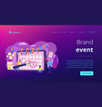 Brand event concept landing page