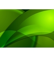 Bright green smooth waves background vector image vector image