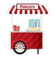 carts retail kiosk on wheels popcorn flat vector image vector image