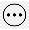 chat sign three dots icon - iconic design vector image