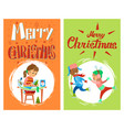 christmas holidays children new year activities vector image vector image