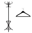 Coat rack and hanger vector image