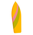 colorful surfboard cartoon vector image