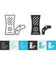 console simple black line icon vector image vector image