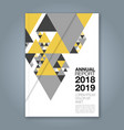 cover annual report 1124 vector image