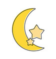 crescent moon and stars icon image vector image