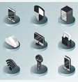 cybersecurity color isometric icons vector image vector image
