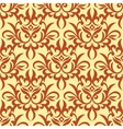 Damask seamless pattern with orange ornament vector image vector image