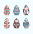 easter eggs flat style collection spring holiday vector image