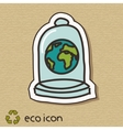 Eco concept on cardboard vector image vector image
