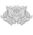 entangle stylized cartoon carnaval mask vector image vector image