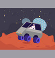female astronaut character ride rover on mars vector image