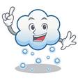 finger snow cloud character cartoon vector image