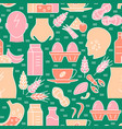 food sensitivity seamless pattern in colored line vector image vector image