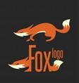 fox logo 1 vector image vector image