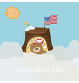 Greeting card to groundhog day Beginning spring vector image vector image