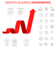 growth business infographic template vector image