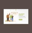 happy joyful grandparents vector image