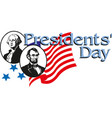 happy presidents day with usa flag george vector image
