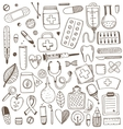 Health care and medicine elements set vector image