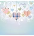 Hearts background in pastel colors vector image